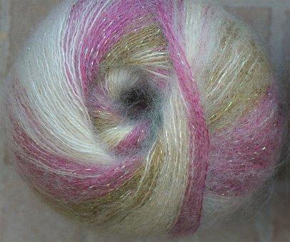 Yarn, Mohair, Sparkle, Handicraft, Knitting, Crochet