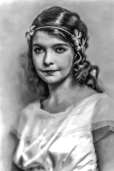 Lillian Gish - Female, Portrait, Stage, Film