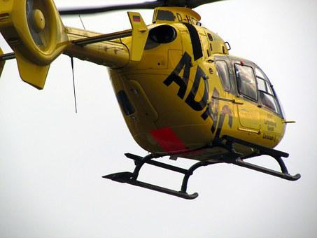 Helicopter, Rescue Helicopter, Rotor Blades, Flying