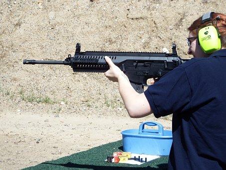 Shooting, Ar, Woman, Ar-15, Gun, Rifle, Assault