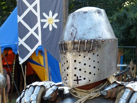 Knight, Helm, Mask, Protection, Knights Camp, Vondern