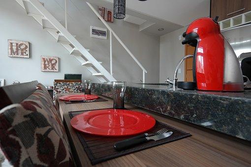 Apartment, Internal, Loft, Coffee Machine