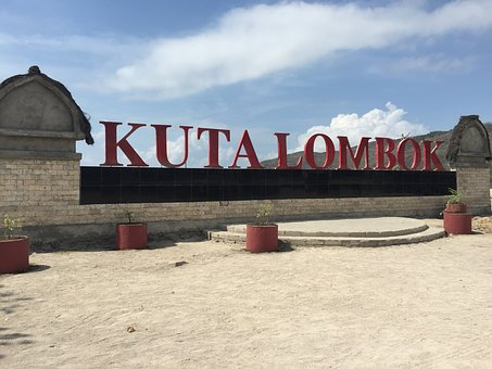 Kuta, Lombok, Beach, Indonesia, Letters, Word, Name