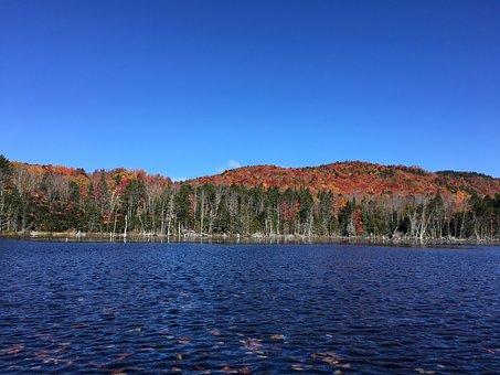 Autumn, Lake, Mountains, Boreas Pond Tract