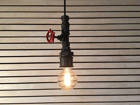 Lightbulb, Design, Loft, Industrial, Lamp, Edison