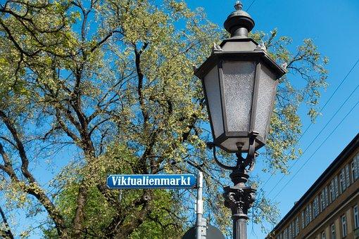 Street Name, Space, Munich, Market, Tradition, Bavaria