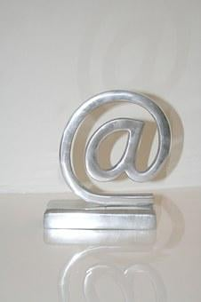 At Symbol, At, At Sign, Communication Icon, Metal