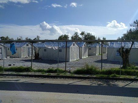 Lesvos, Island, Mytilini, Greece, Refugees, Camps