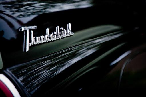 Thunderbird, Name, Ford, Car, Emblem, Logo, Auto, Badge