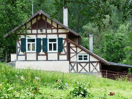 Farmhouse, Fachwerkhaus, Home, Building, Oberhausen