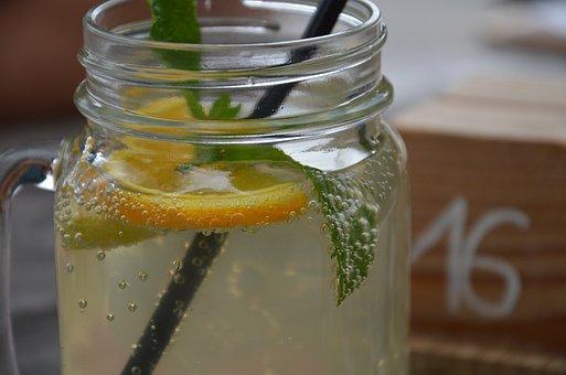 Lemonade, Summer, Mint, Orange, Sparkling, Refreshment