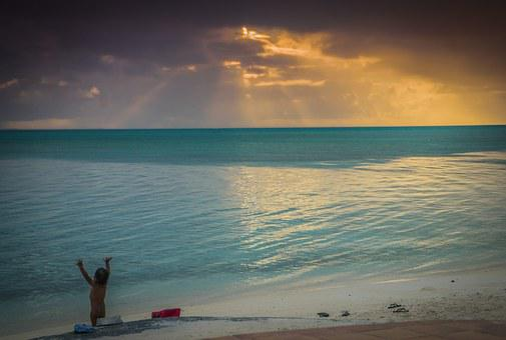 Bora-bora, French Polynesia, Sunset, Ocean, Pacific