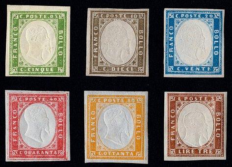Stamps, Rare Colours, Com En Photos Frame