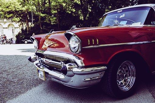 Oldtimer, Chrome, Vintage, Retro, Auto, Classic