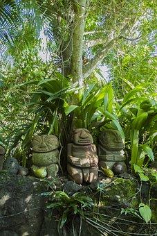 Rohotu, Fare, Kane, Pukana, Tiki, Jungle, Palms