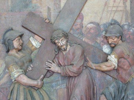 Saint Christophorus, Statue, Relief, Sculpture, Figure
