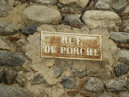 Street Name, France, Pyrenees, Porch, Old, Expired