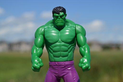 Incredible Hulk, Superhero, Green, Man, Male, Angry