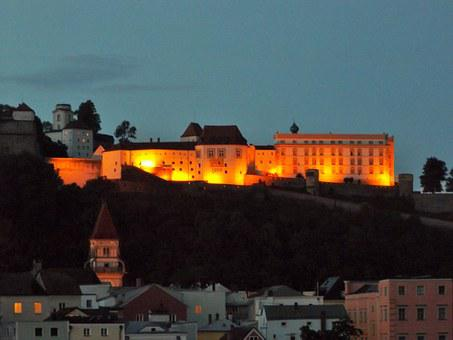 Passau, Castle, Veste Oberhaus, Architecture, Fortress