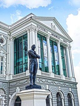 Singapore, Hdr, Victoria Theatre, Sir Stamford Raffles