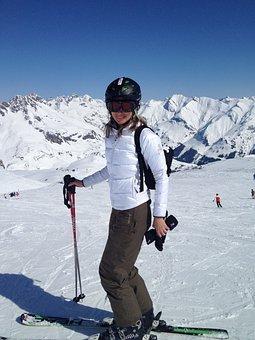 Skiing, Helmet, Sport, Goggles, Winter, Ski, Alpine