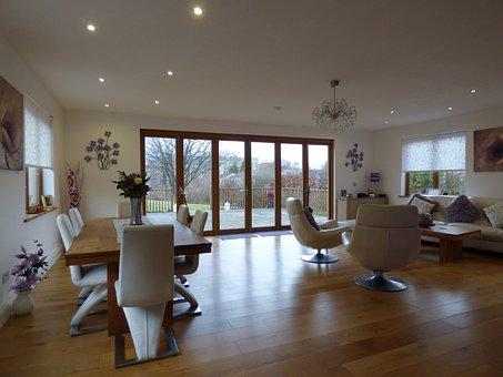 Wood Table, Wood Floors, Bifold Doors, Bi-fold