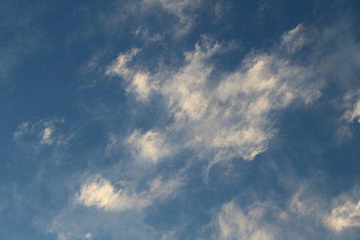 Clouds, Sky, Brushstrokes, Blue
