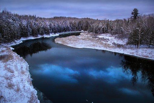 River, Reflection, Canada, New Brunswick, Meduxnekeag