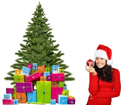Christmas, Tree, Presents, Gifts, Ball, Christmas Trees