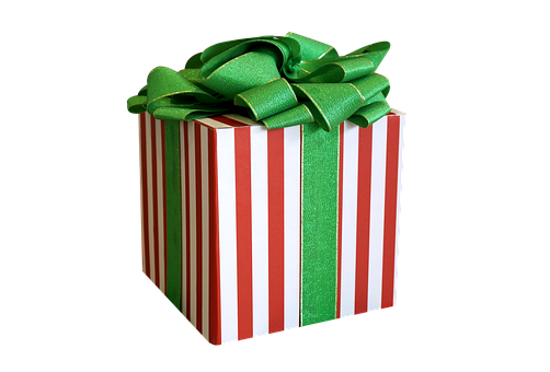 Gift Box, Christmas, Decorate, Bow Green