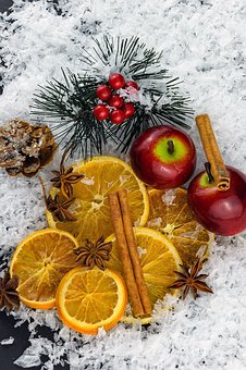 Christmas, Winter, December, Smell, Orange, Apple