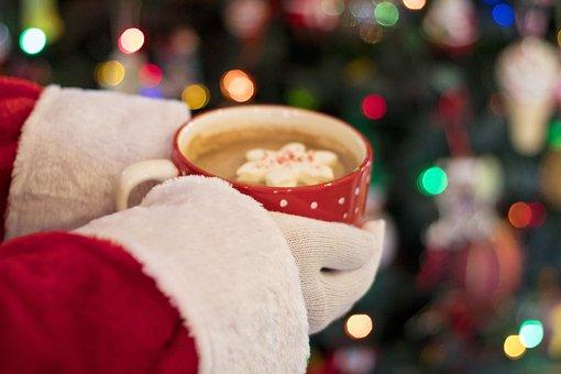 Christmas, Santa, Cocoa, Hot Chocolate, Marshmallow