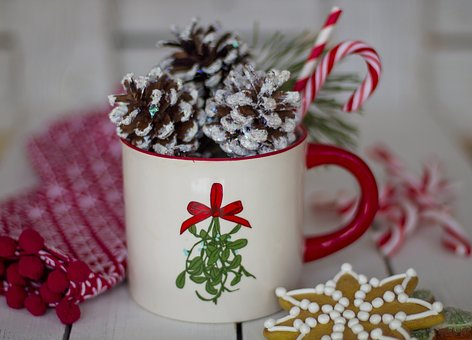 Christmas, Coffee, Mug, Cup, Cookie, Winter, Drink