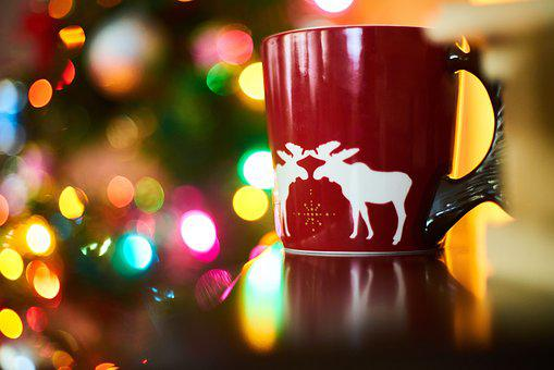 Coffee, Cup, Red, New Year, Beverage, Espresso