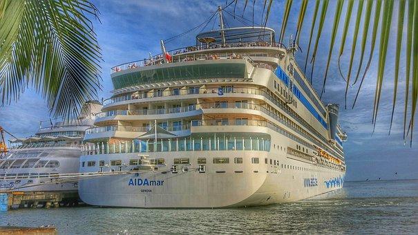Caribbean, Aida, Ship, Cruise Ship, Travel