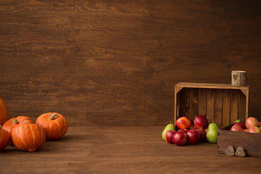 Autumn, Pumpkin, Halloween, Orange, Decoration, Apple