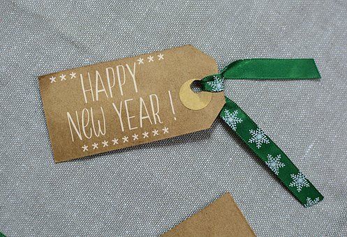 New Year, Label, Holiday, Xmas, Decoration, Card