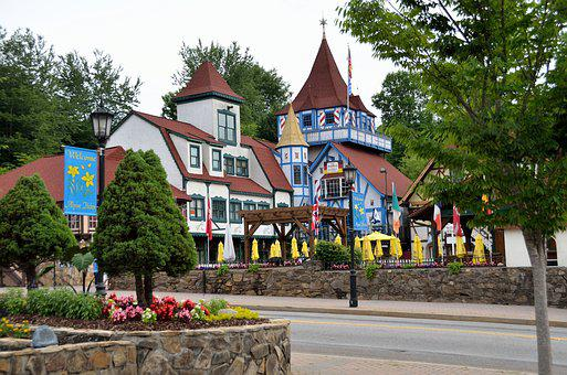Helen, Georgia, Alpine Village, German, Usa, Day