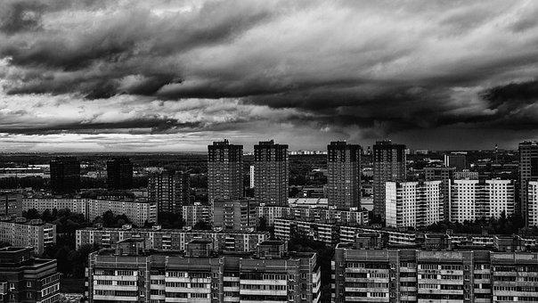 Sky, Khimki, Evening Sky, Clouds, Gloomy Sky