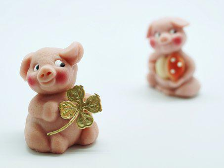 Luck, Piglet, Lucky Pig, Lucky Charm, Sweet, Good Luck