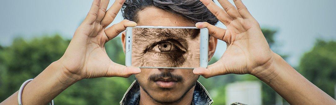 Cyclops, An Eye, Smartphone, Hand, Keep, Man, View