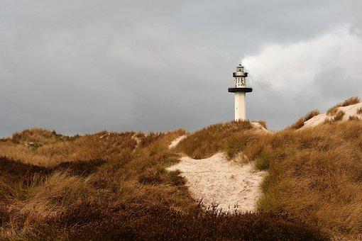 Lighthouse, Borgholm, Beach, Twilight, Nature, Sea