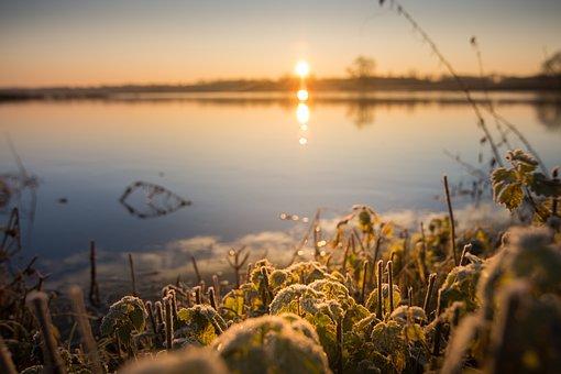 Sunrise, River, Mood, Landscape, Sun, Morning Light