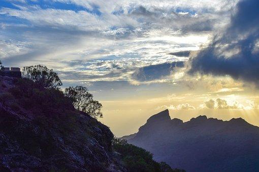 Tenerife, Canary Islands, Masca, Outlook, Mountains