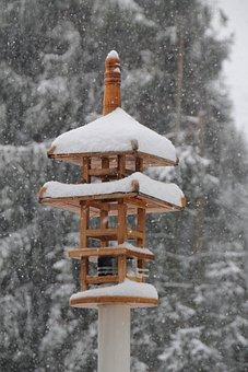 Aviary, Bird Feeder, Japanese, Temple, Nesting Box