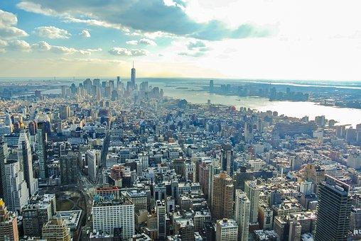 New York, Manhattan, Sunset, United States, Nyc, City