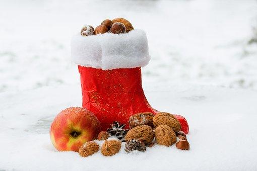 Nicholas Boots, Boots, St Nicholas Day, Filled, Walnuts