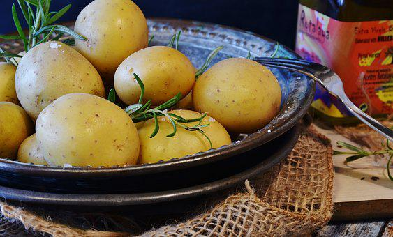 Potatoes, Vegetables, Potato, Thyme, Oil, Olive Oil