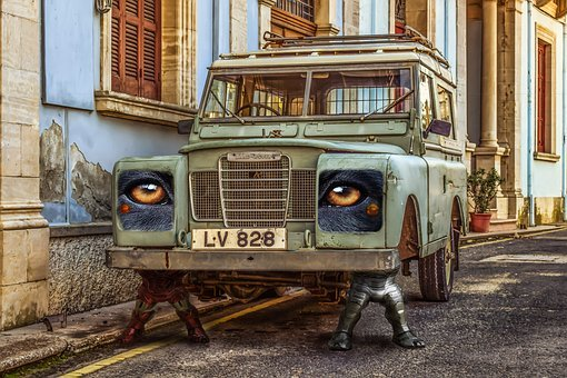 Car, Feet, Old, Eye, Auto Exhibition, Colors, Machinery