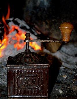 Coffee Grinder, Grinder, Fireplace, Antiques, Old